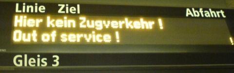 BVG - Berliner Verkehrsbetriebe - Kein Zugverkehr