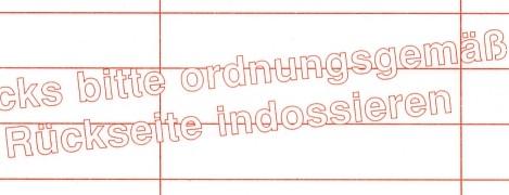 Formular Einreichung von Inlandsschecks