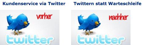 Deutsche Welle Artikelüberschriften Kundenservice via Twitter vorher - nachher