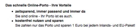 Internetmarke Deutsche Post