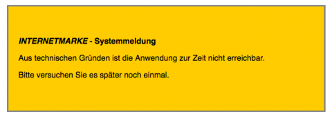 Internetmarke Deutsche Post