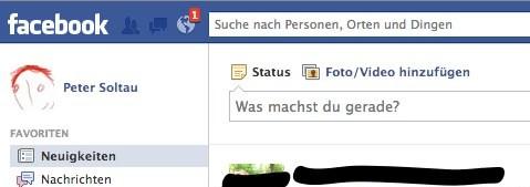 Facebook Benachrichtigung