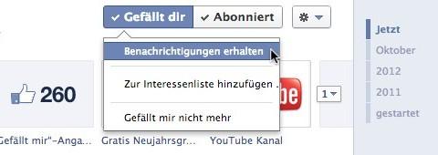 Facebook: Page-Updates als Benachrichtigung erhalten